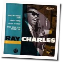 Ray Charles guitar chords for Lonely avenue