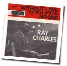 Ray Charles guitar chords for Without love there is nothing