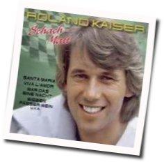 Roland Kaiser guitar chords for Schach matt