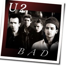 U2 guitar tabs for Bad
