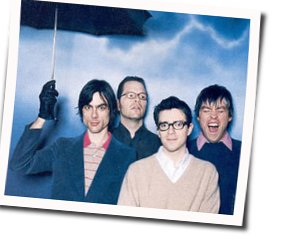 Weezer guitar chords for Everybody wants to rule the world